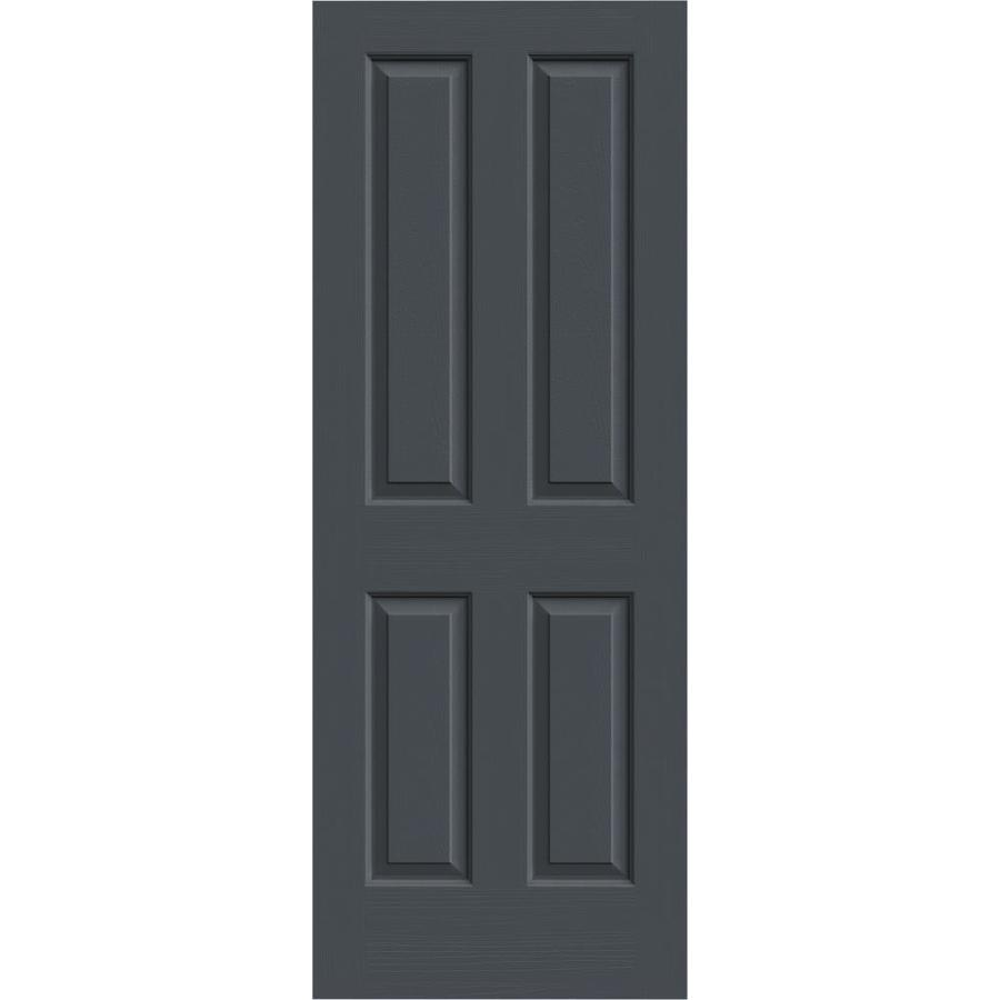 JELD-WEN Coventry Slate Solid Core Molded Composite Slab Interior Door (Common: 24-in x 80-in; Actual: 24-in x 80-in)
