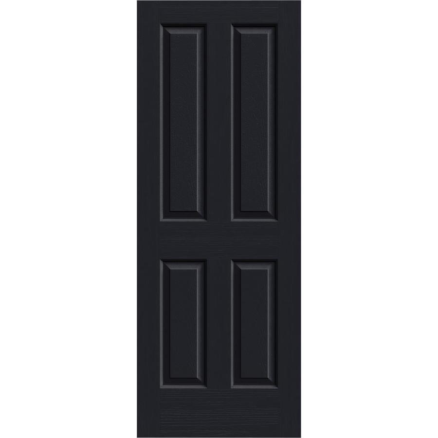 JELD-WEN Midnight Solid Core 4 Panel Square Slab Interior Door (Common: 24-in x 80-in; Actual: 24-in x 80-in)