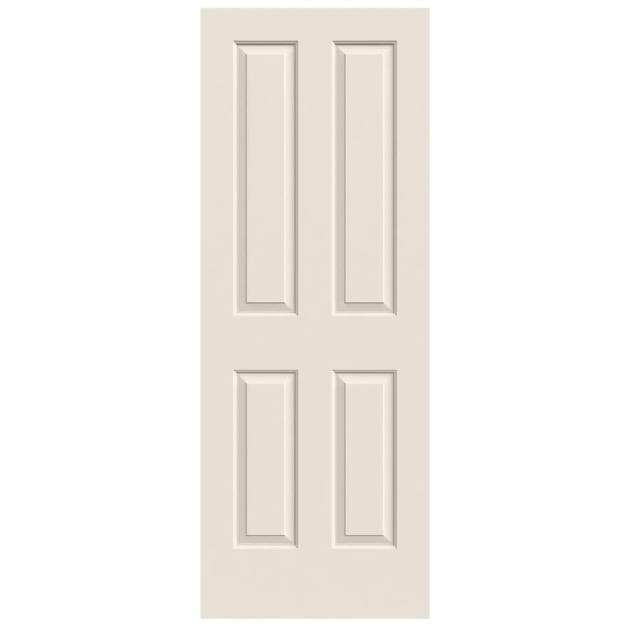 JELD-WEN Solid Core 4 Panel Square Slab Interior Door (Common: 24-in x 80-in; Actual: 24-in x 80-in)