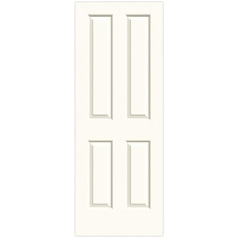 JELD-WEN White Hollow Core 4 Panel Square Slab Interior Door (Common: 32-in x 80-in; Actual: 32-in x 80-in)