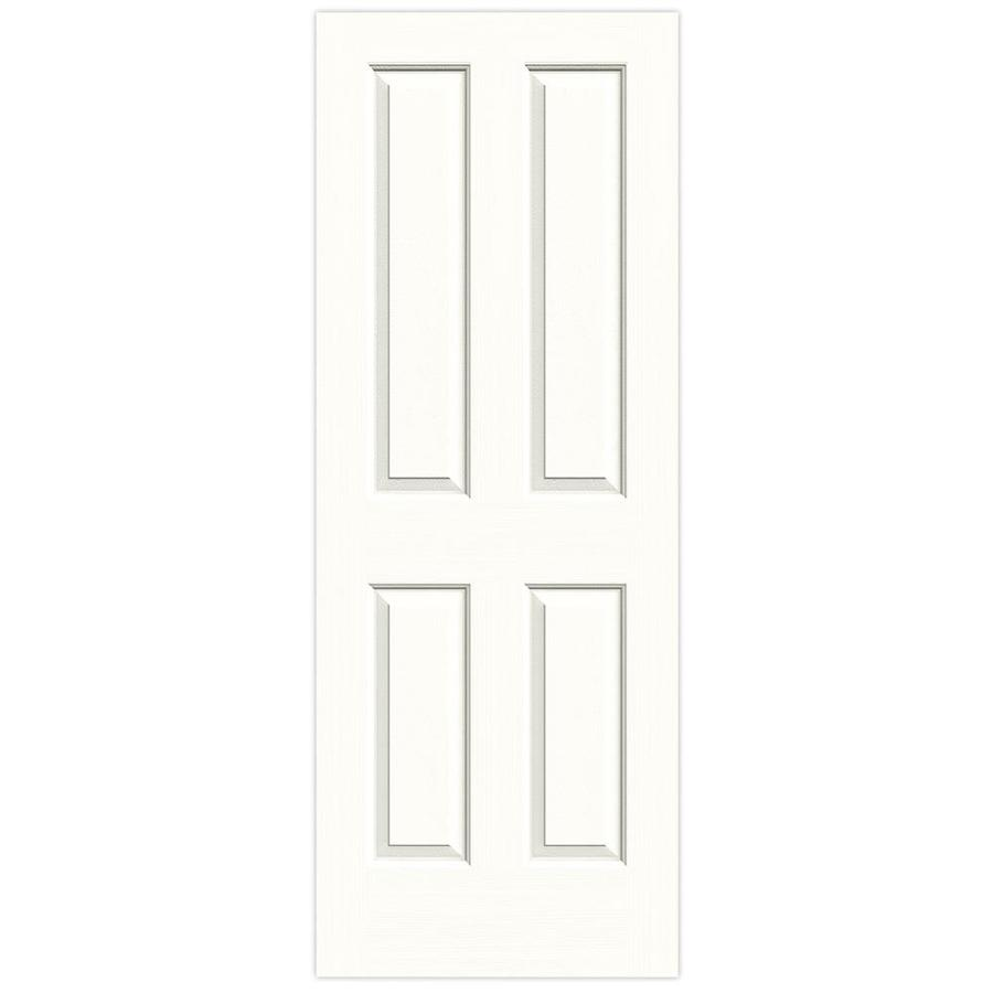 JELD-WEN Coventry Snow Storm 4 Panel Square Slab Interior Door (Common: 30-in x 80-in; Actual: 30-in x 80-in)