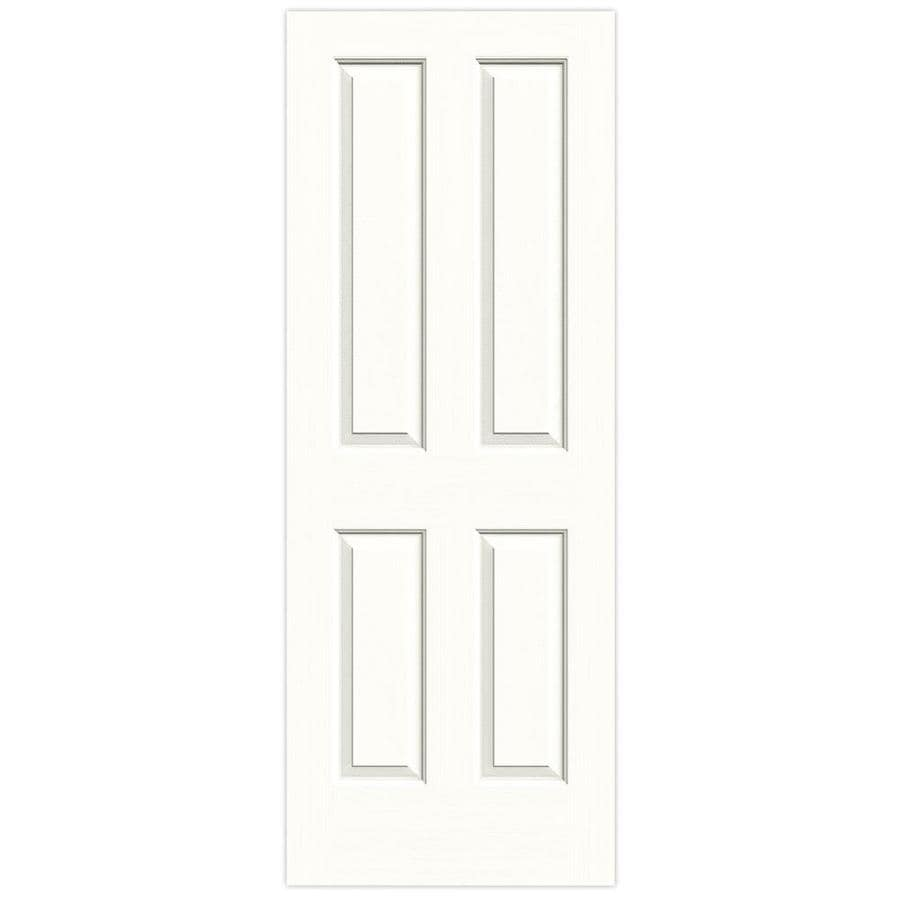 JELD-WEN Snow Storm Hollow Core 4 Panel Square Slab Interior Door (Common: 32-in x 80-in; Actual: 32-in x 80-in)