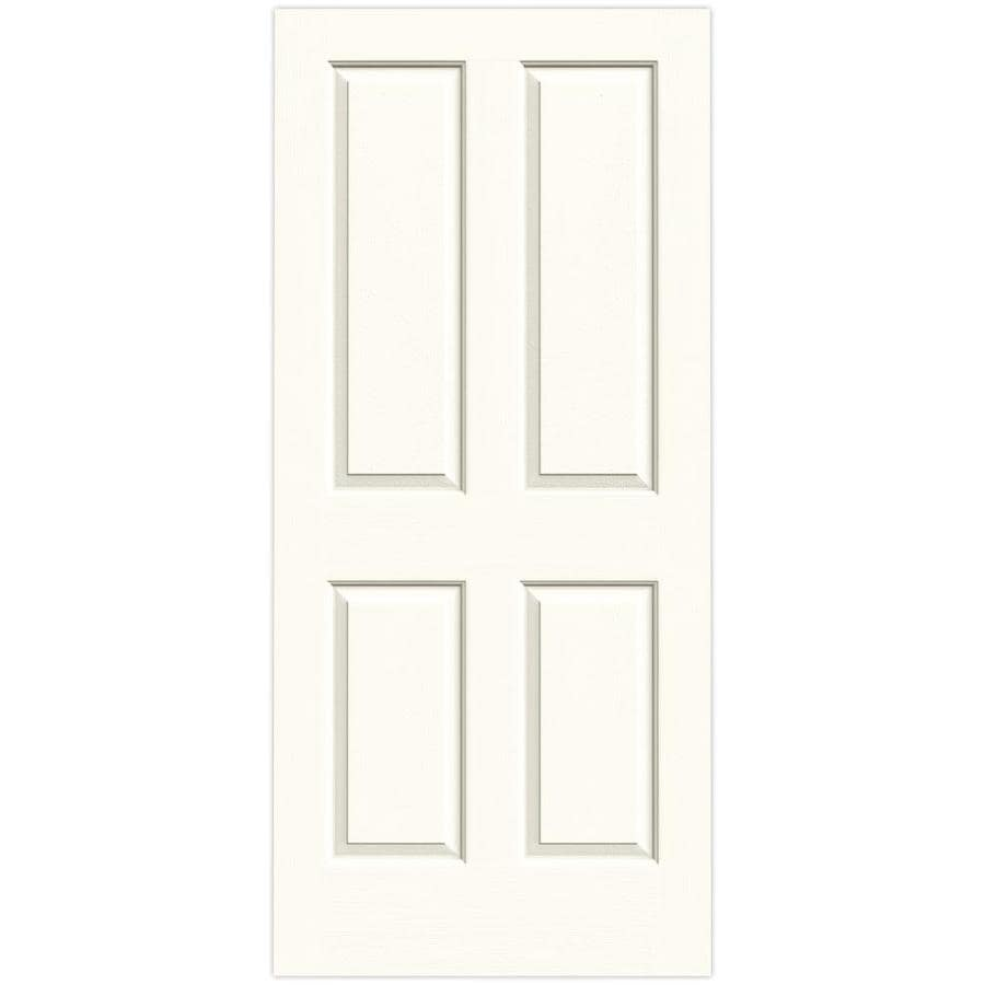 JELD-WEN Moonglow Hollow Core 4 Panel Square Slab Interior Door (Common: 36-in x 80-in; Actual: 36-in x 80-in)