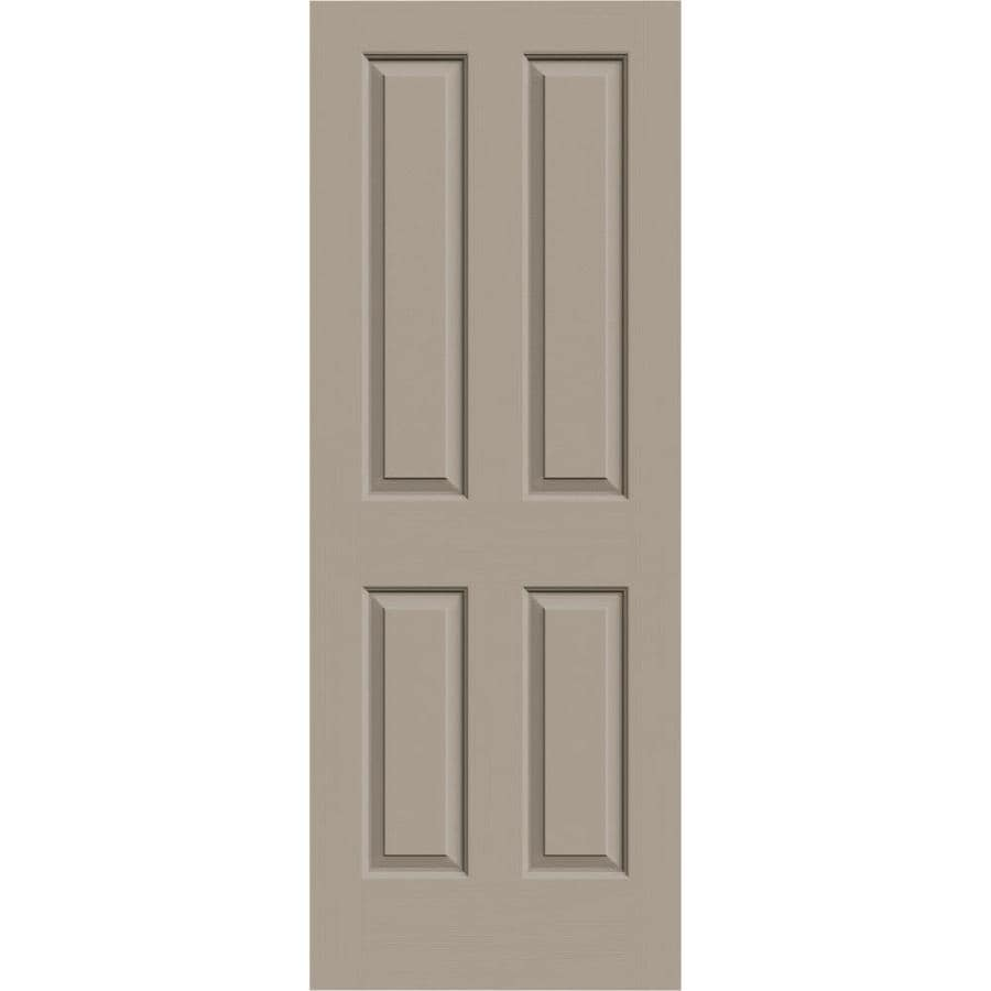 JELD-WEN Sand Piper Hollow Core 4 Panel Square Slab Interior Door (Common: 30-in x 80-in; Actual: 30-in x 80-in)