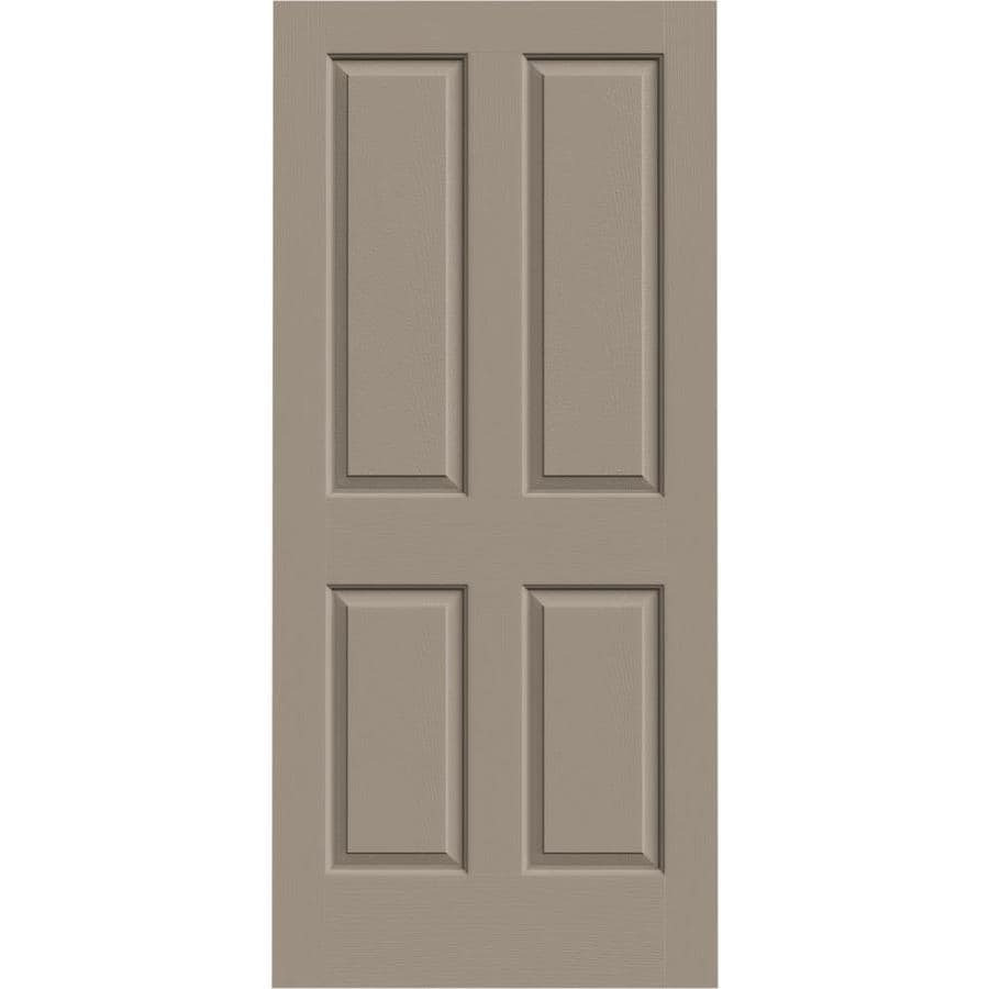 JELD-WEN Coventry Sand Piper Hollow Core Molded Composite Slab Interior Door (Common: 36-in x 80-in; Actual: 36-in x 80-in)