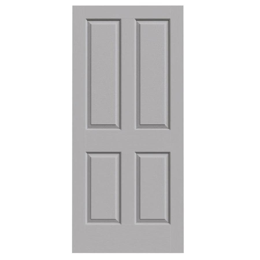 JELD-WEN Driftwood Hollow Core 4 Panel Square Slab Interior Door (Common: 36-in x 80-in; Actual: 36-in x 80-in)