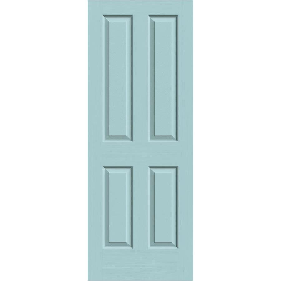 JELD-WEN Sea Mist Hollow Core 4 Panel Square Slab Interior Door (Common: 24-in x 80-in; Actual: 24-in x 80-in)