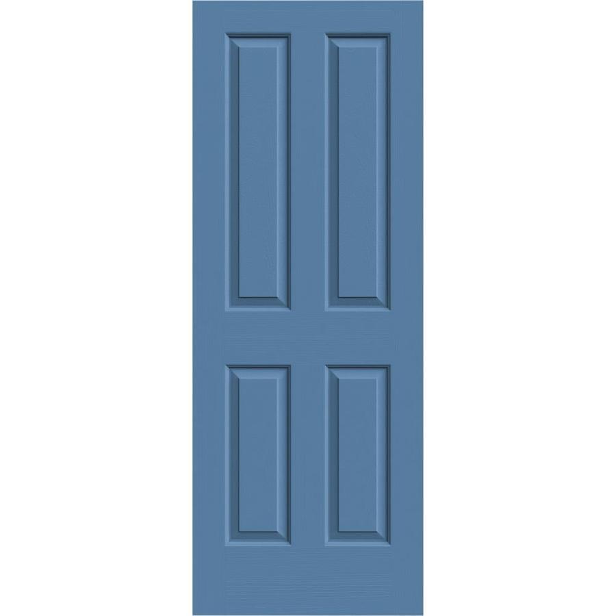 JELD-WEN Blue Heron Hollow Core 4 Panel Square Slab Interior Door (Common: 24-in x 80-in; Actual: 24-in x 80-in)
