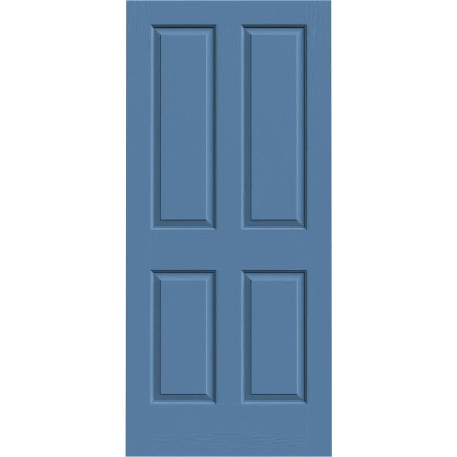 JELD-WEN Blue Heron Hollow Core 4 Panel Square Slab Interior Door (Common: 36-in x 80-in; Actual: 36-in x 80-in)