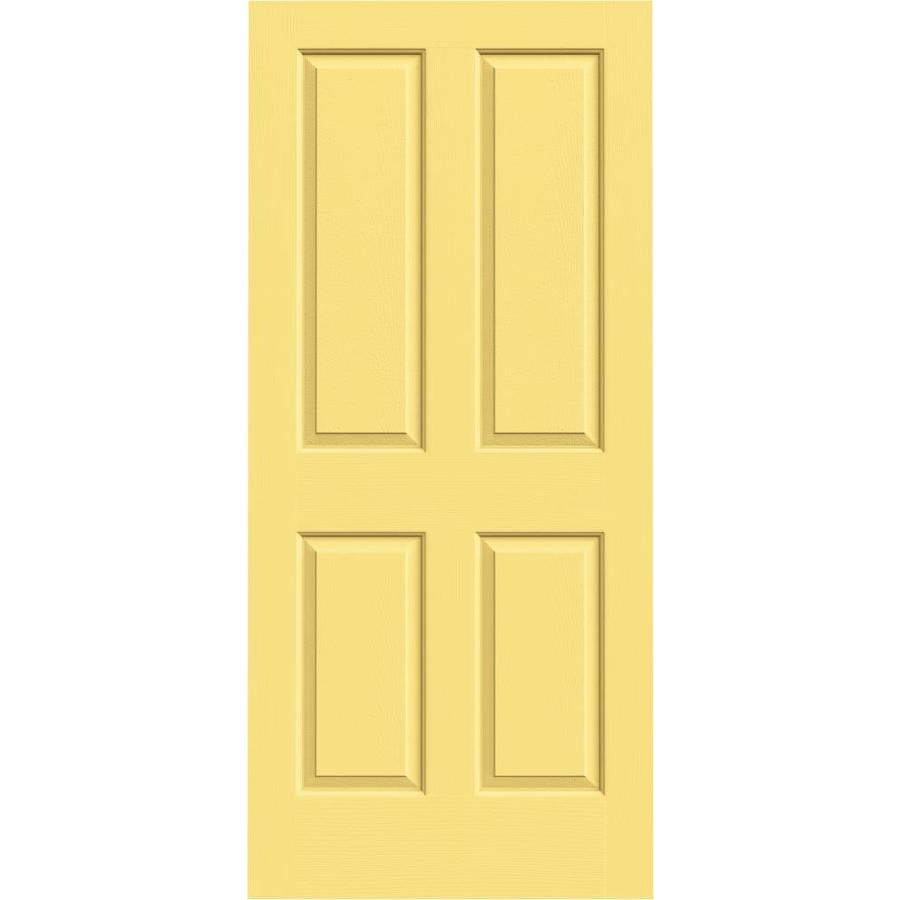 JELD-WEN Coventry Marigold 4 Panel Square Slab Interior Door (Common: 36-in x 80-in; Actual: 36-in x 80-in)