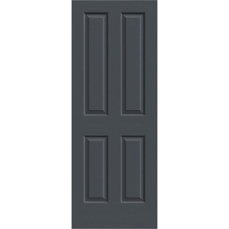 JELD-WEN Slate Hollow Core 4 Panel Square Slab Interior Door (Common: 24-in x 80-in; Actual: 24-in x 80-in)