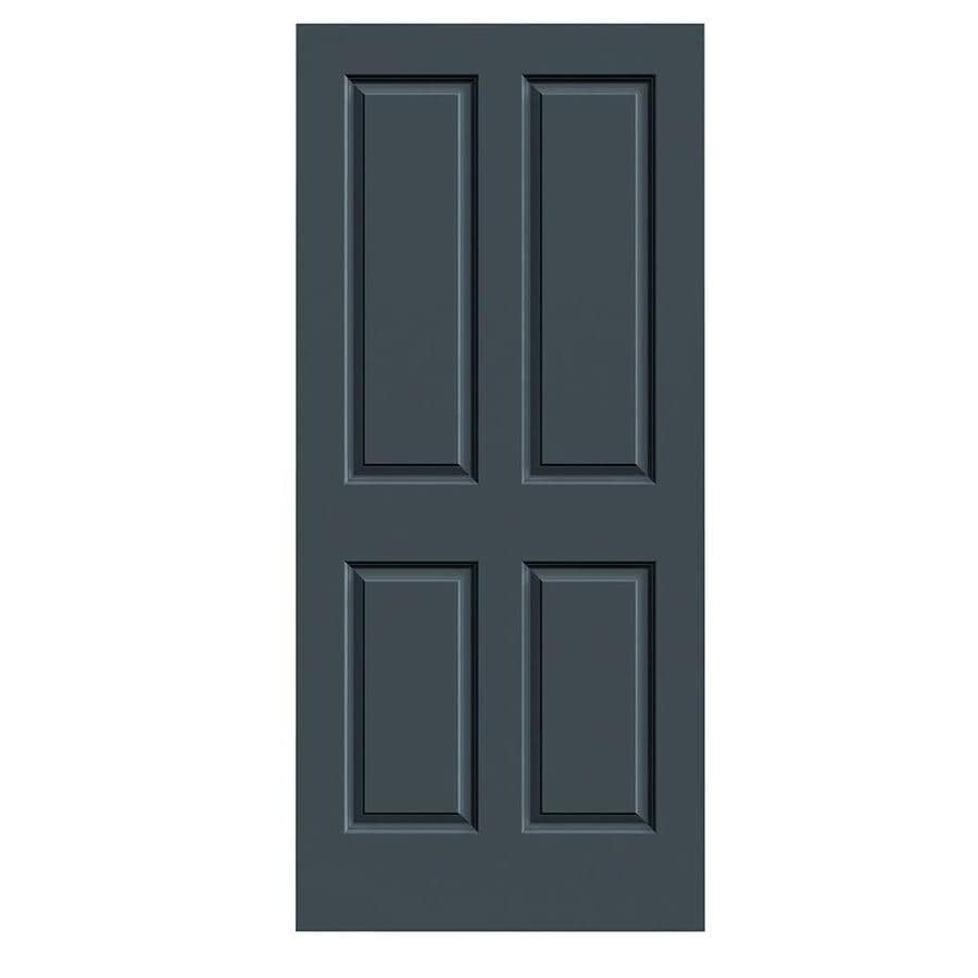 JELD-WEN Slate Hollow Core 4 Panel Square Slab Interior Door (Common: 36-in x 80-in; Actual: 36-in x 80-in)