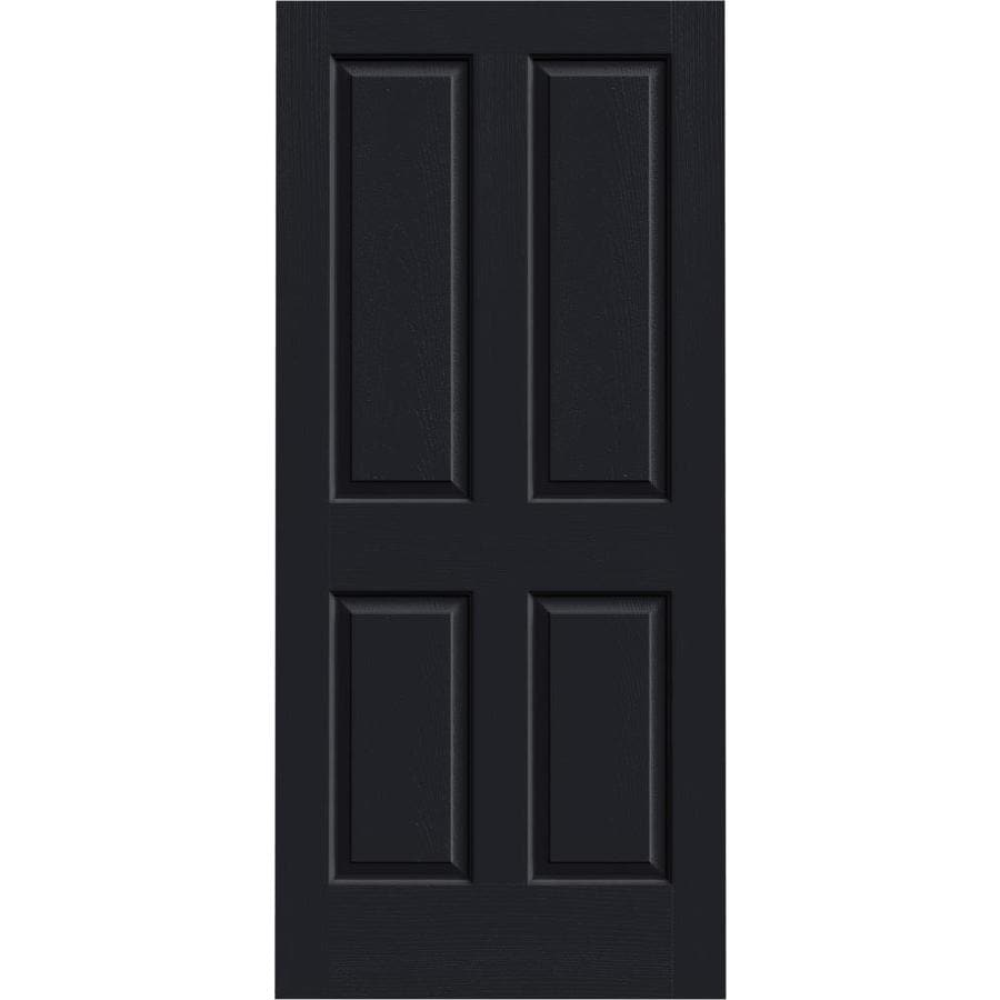 JELD-WEN Midnight Hollow Core 4 Panel Square Slab Interior Door (Common: 36-in x 80-in; Actual: 36-in x 80-in)