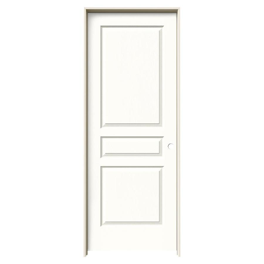 JELD-WEN Avalon Snow Storm Single Prehung Interior Door (Common: 30-in x 80-in; Actual: 31.562-in x 81.688-in)