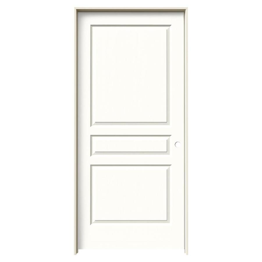 JELD-WEN Avalon Snow Storm 3-panel Square Single Prehung Interior Door (Common: 36-in x 80-in; Actual: 37.562-in x 81.688-in)