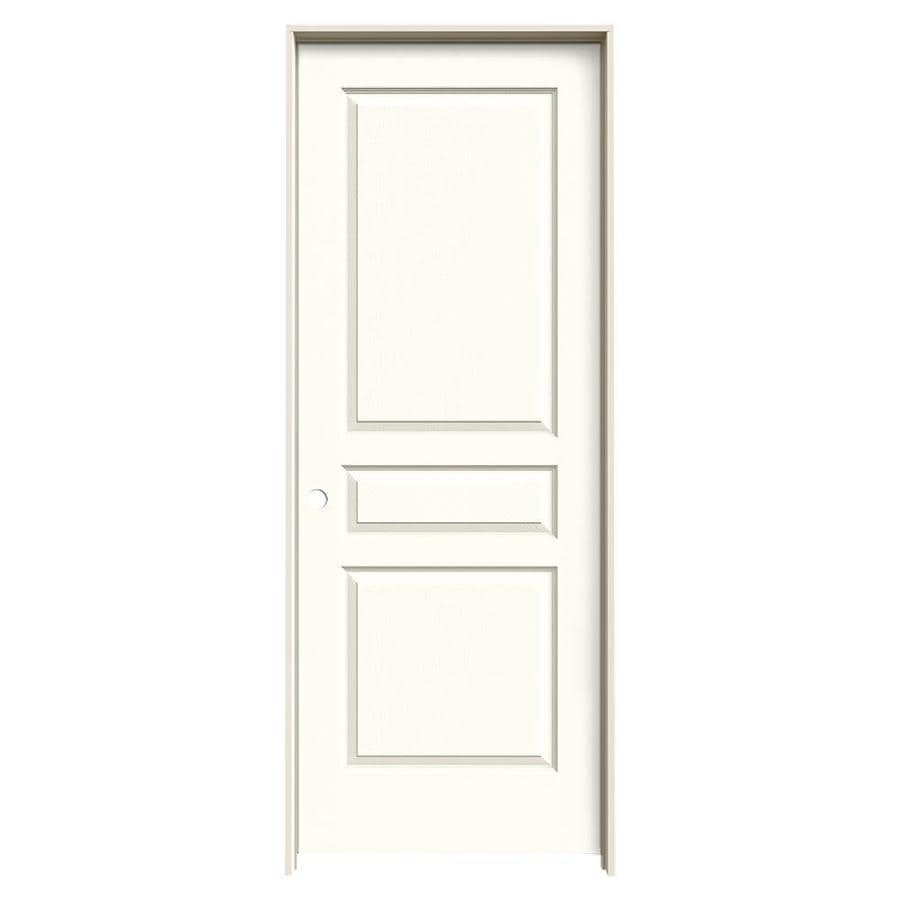 JELD-WEN Avalon Moonglow 3-panel Square Single Prehung Interior Door (Common: 24-in x 80-in; Actual: 25.562-in x 81.688-in)
