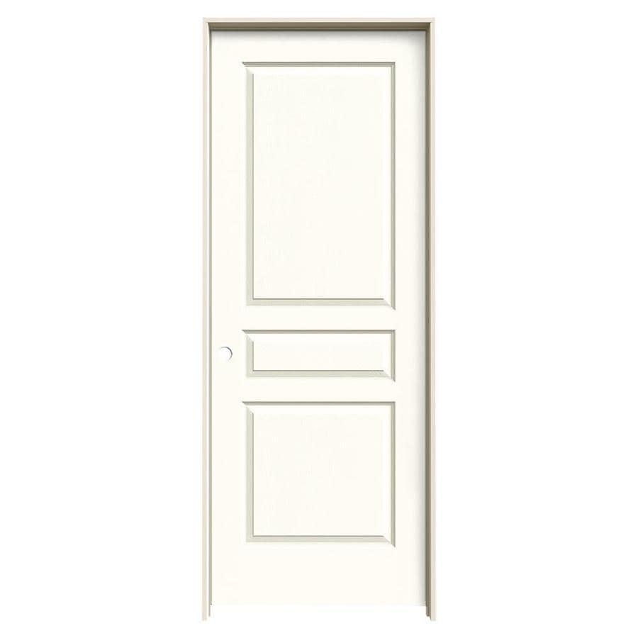 JELD-WEN Avalon Moonglow 3-panel Square Single Prehung Interior Door (Common: 30-in x 80-in; Actual: 31.562-in x 81.688-in)