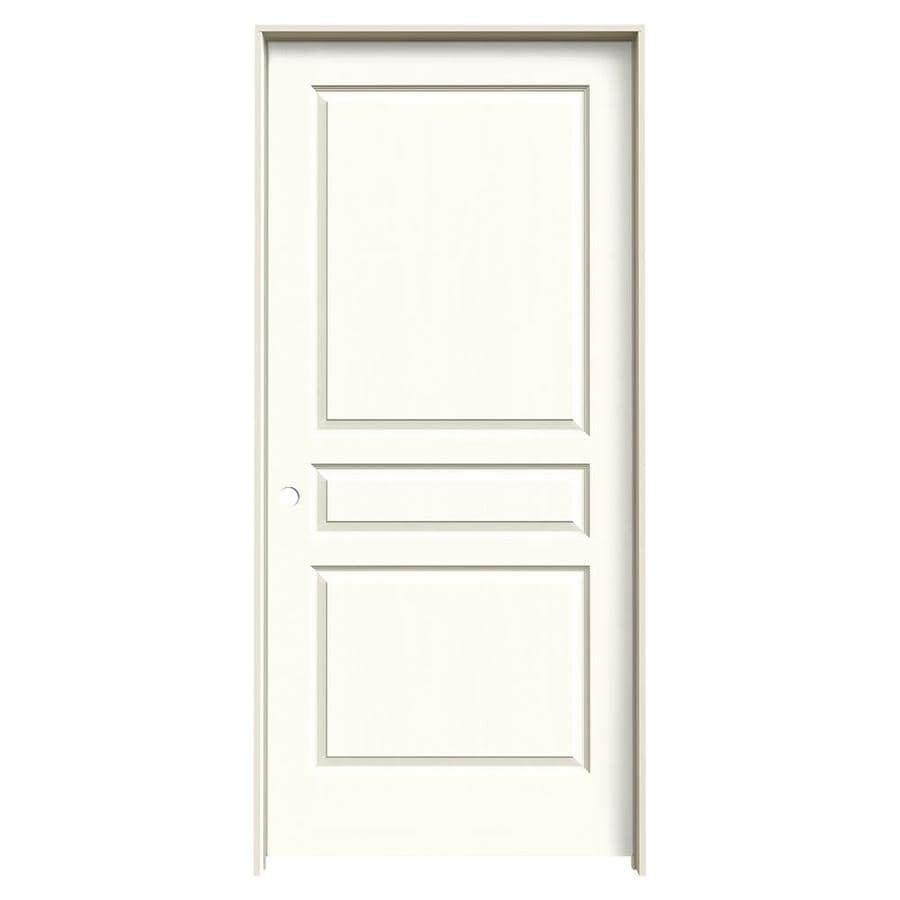 JELD-WEN Avalon Moonglow 3-panel Square Single Prehung Interior Door (Common: 36-in x 80-in; Actual: 37.562-in x 81.688-in)