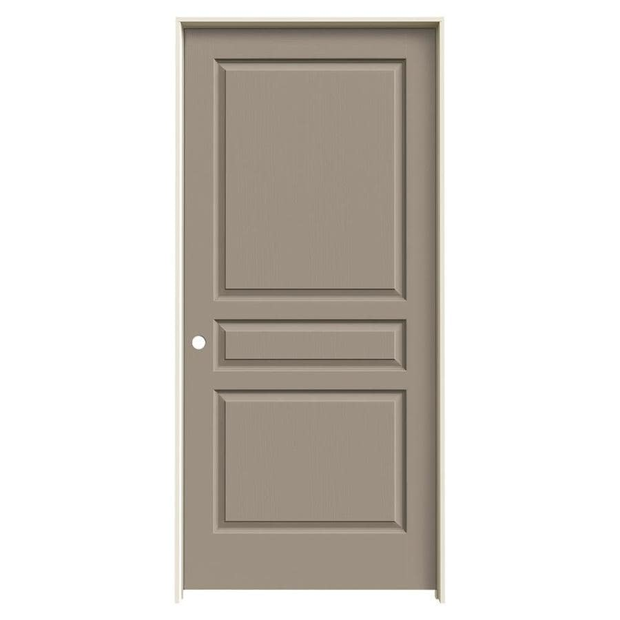 JELD-WEN Sand Piper Prehung Solid Core 3-Panel Square Interior Door (Common: 36-in x 80-in; Actual: 37.562-in x 81.688-in)