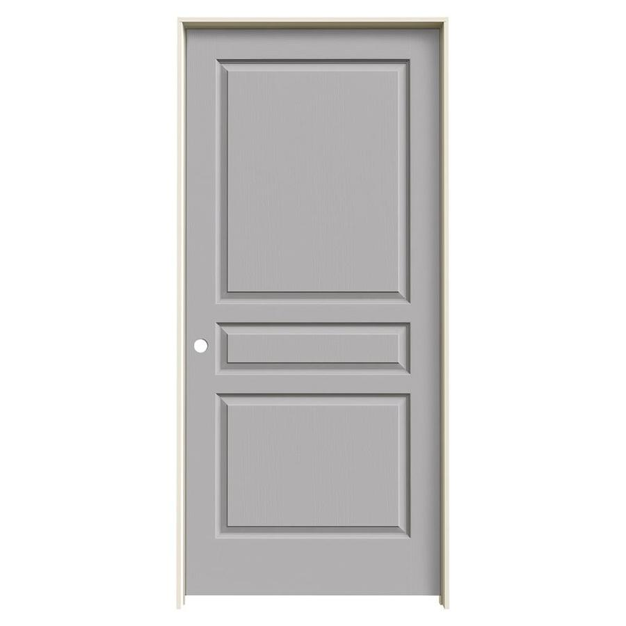 JELD-WEN Driftwood Prehung Solid Core 3-Panel Square Interior Door (Common: 36-in x 80-in; Actual: 37.562-in x 81.688-in)
