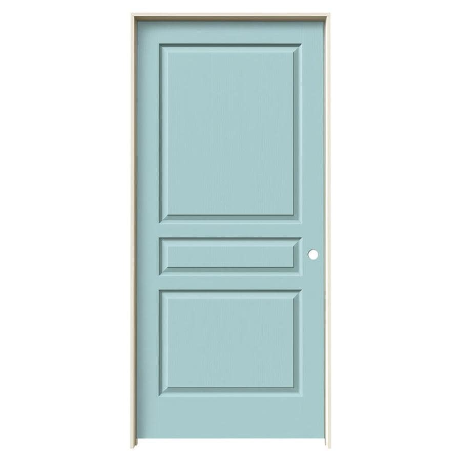 JELD-WEN Avalon Sea Mist Solid Core Molded Composite Single Prehung Interior Door (Common: 36-in x 80-in; Actual: 37.562-in x 81.688-in)