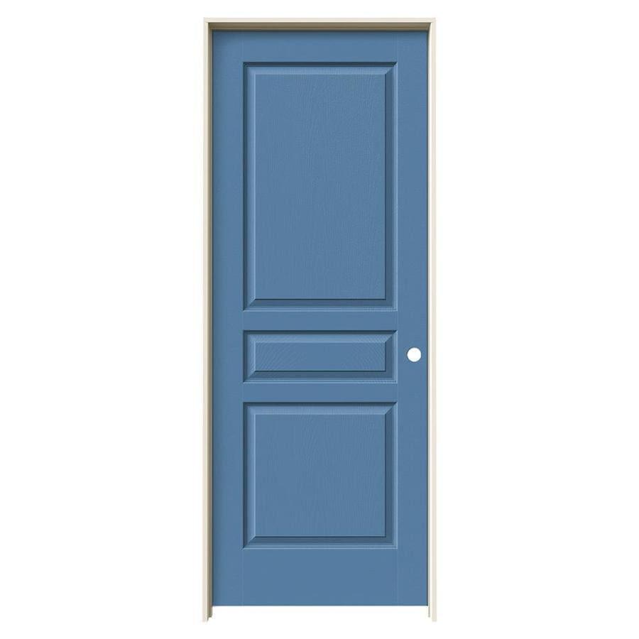 JELD-WEN Avalon Blue Heron Single Prehung Interior Door (Common: 28-in x 80-in; Actual: 29.5620-in x 81.6880-in)