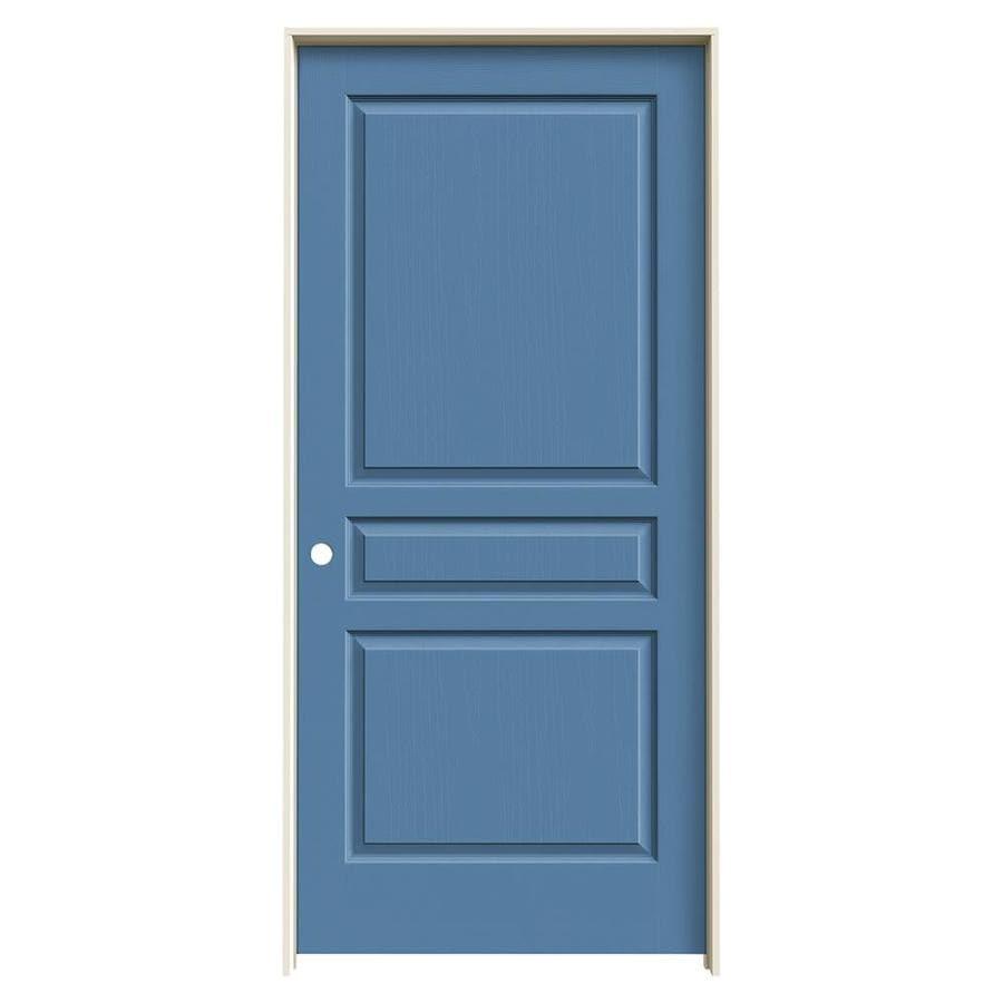 JELD-WEN Avalon Blue Heron Solid Core Molded Composite Single Prehung Interior Door (Common: 36-in x 80-in; Actual: 37.562-in x 81.688-in)