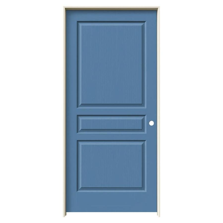 JELD-WEN Avalon Blue Heron Solid Core Molded Composite Single Prehung Interior Door (Common: 36-in x 80-in; Actual: 37.562-in x 81.688-in)