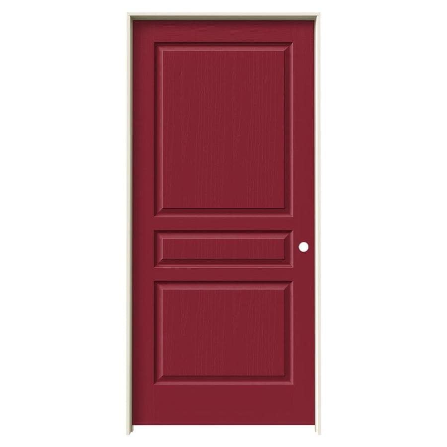 JELD-WEN Avalon Barn Red Solid Core Molded Composite Single Prehung Interior Door (Common: 36-in x 80-in; Actual: 37.562-in x 81.688-in)