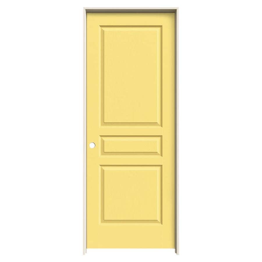 JELD-WEN Marigold Prehung Solid Core 3-Panel Square Interior Door (Common: 28-in x 80-in; Actual: 29.562-in x 81.688-in)