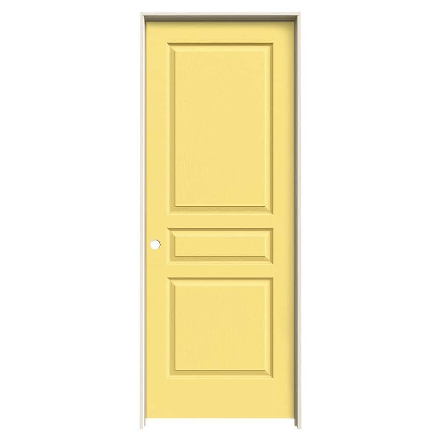 JELD-WEN Avalon Marigold 3-panel Square Single Prehung Interior Door (Common: 32-in x 80-in; Actual: 33.562-in x 81.688-in)