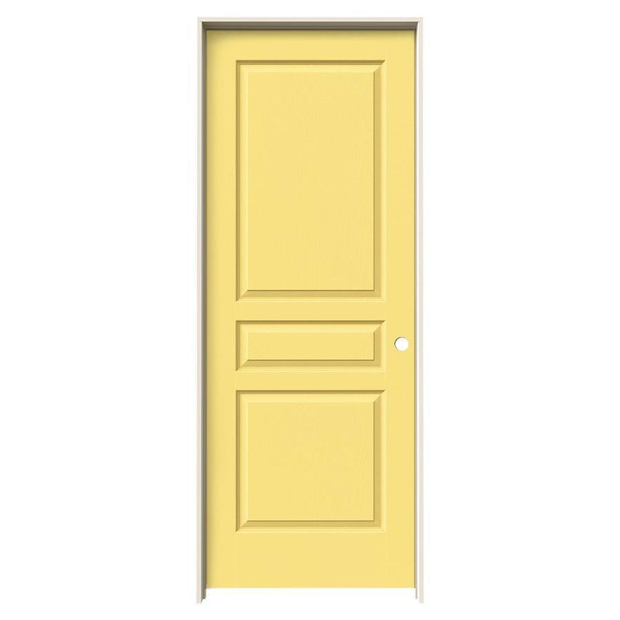 JELD-WEN Avalon Marigold Solid Core Molded Composite Single Prehung Interior Door (Common: 32-in x 80-in; Actual: 33.562-in x 81.688-in)