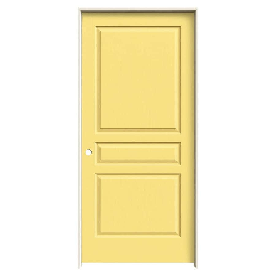 Shop Jeld Wen Avalon Marigold Solid Core Molded Composite Single Prehung Interior Door Common