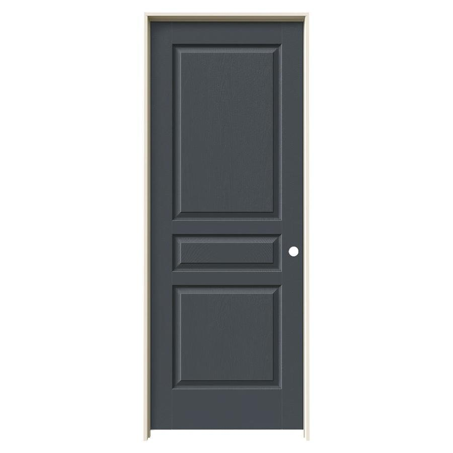 JELD-WEN Slate Prehung Solid Core 3-Panel Square Interior Door (Common: 24-in x 80-in; Actual: 25.562-in x 81.688-in)
