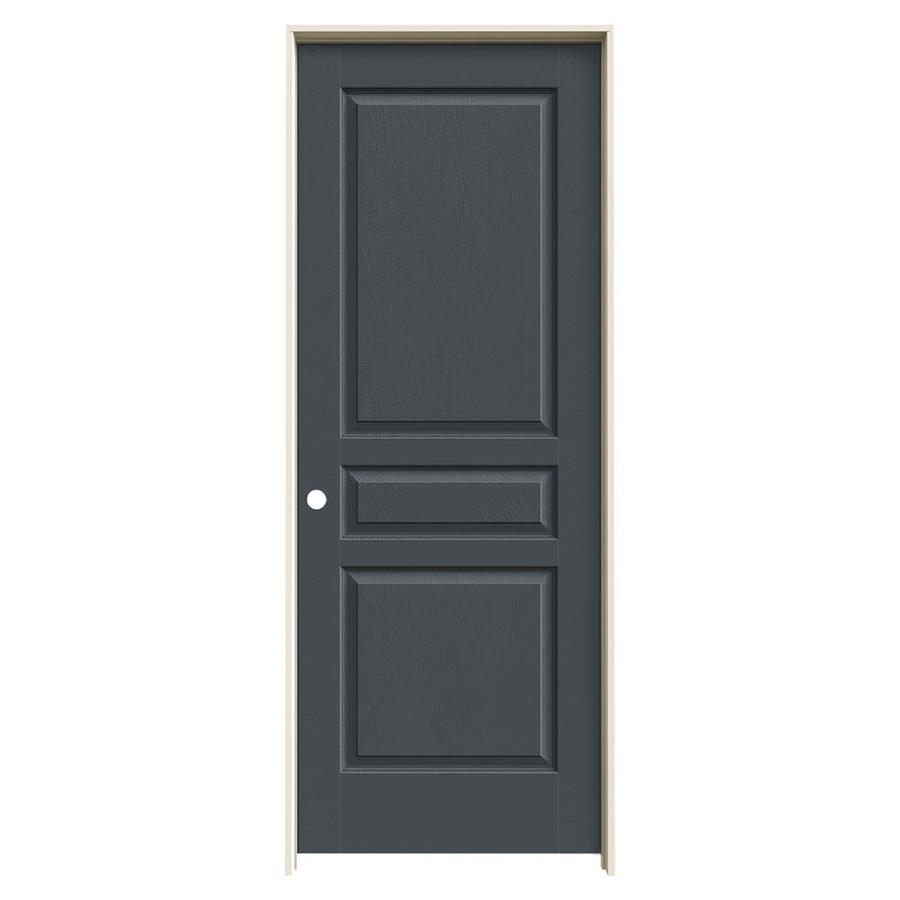 JELD-WEN Slate Prehung Solid Core 3-Panel Square Interior Door (Common: 28-in x 80-in; Actual: 29.562-in x 81.688-in)