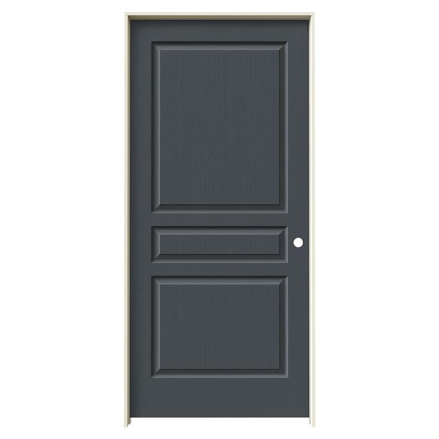 JELD-WEN Avalon Slate Solid Core Molded Composite Single Prehung Interior Door (Common: 36-in x 80-in; Actual: 37.5620-in x 81.6880-in)