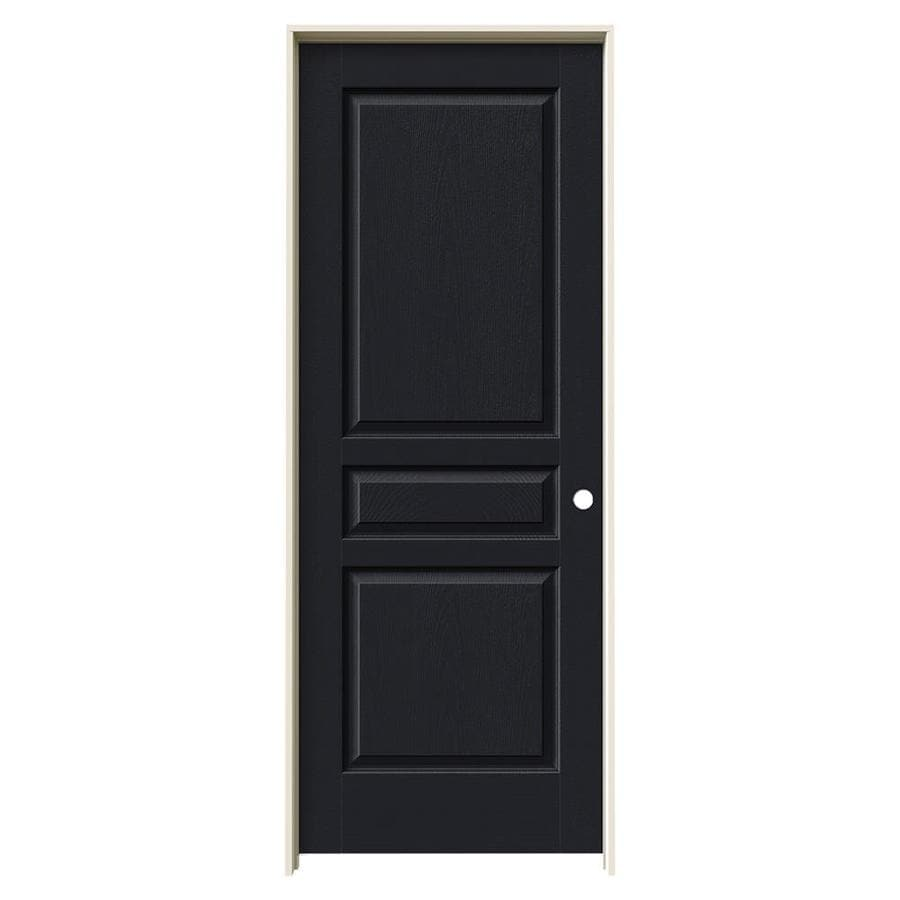JELD-WEN Avalon Midnight 3-panel Square Single Prehung Interior Door (Common: 24-in x 80-in; Actual: 25.5620-in x 81.6880-in)
