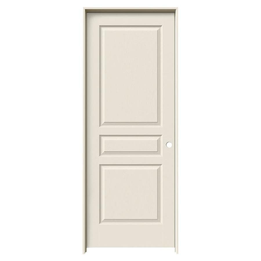 JELD-WEN Avalon Primed Solid Core Molded Composite Single Prehung Interior Door (Common: 24-in x 80-in; Actual: 25.562-in x 81.688-in)