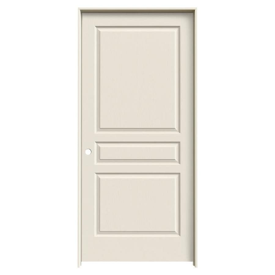 Shop Jeld Wen Avalon Primed 3 Panel Square Solid Core Molded Composite Single Prehung Door