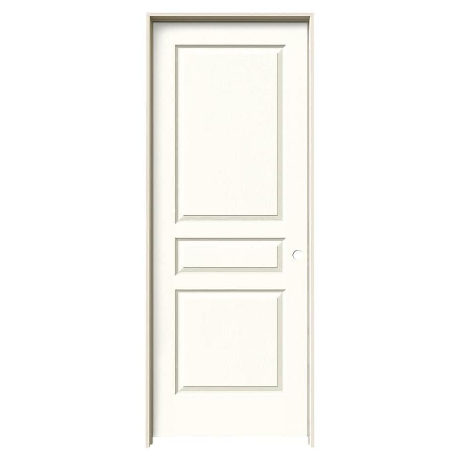 JELD-WEN Avalon Moonglow 3-panel Square Single Prehung Interior Door (Common: 28-in x 80-in; Actual: 29.562-in x 81.688-in)