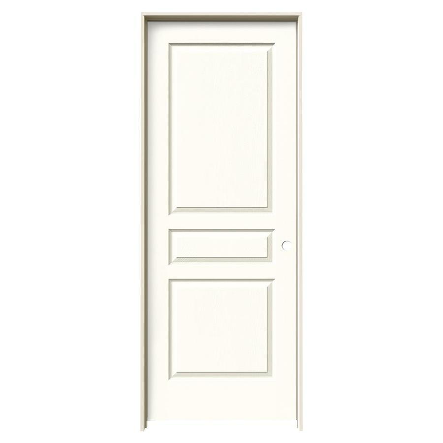 JELD-WEN Avalon Moonglow Hollow Core Molded Composite Single Prehung Interior Door (Common: 30-in x 80-in; Actual: 31.562-in x 81.688-in)