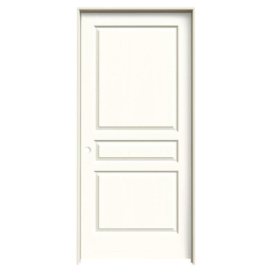 JELD-WEN Moonglow Prehung Hollow Core 3-Panel Square Interior Door (Common: 36-in x 80-in; Actual: 37.562-in x 81.688-in)