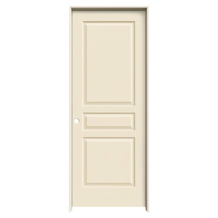 JELD-WEN Avalon Cream-N-Sugar Hollow Core Molded Composite Single Prehung Interior Door (Common: 24-in x 80-in; Actual: 25.5620-in x 81.6880-in)