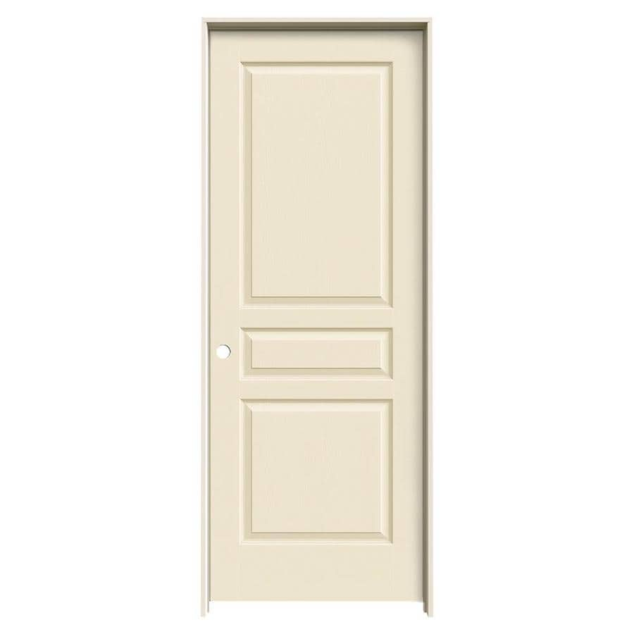 JELD-WEN Avalon Cream-N-Sugar Single Prehung Interior Door (Common: 28-in x 80-in; Actual: 29.562-in x 81.688-in)