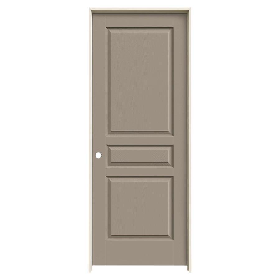 JELD-WEN Avalon Sand Piper Hollow Core Molded Composite Single Prehung Interior Door (Common: 28-in x 80-in; Actual: 29.562-in x 81.688-in)