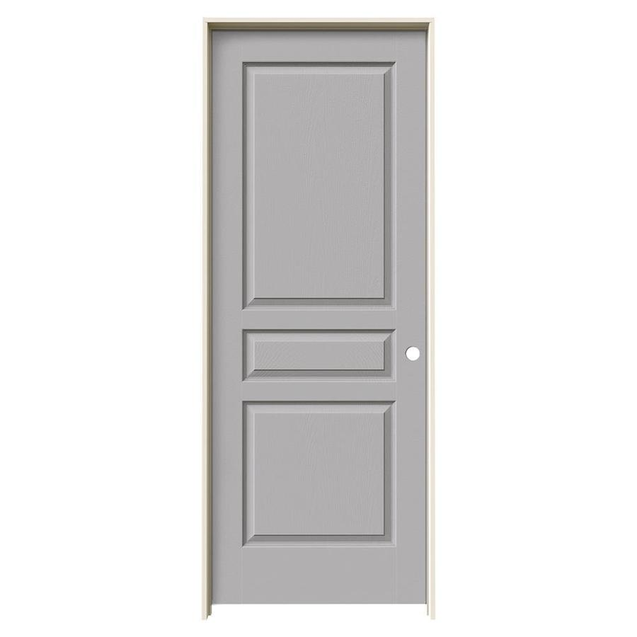 JELD-WEN Avalon Drift Hollow Core Molded Composite Single Prehung Interior Door (Common: 24-in x 80-in; Actual: 25.5620-in x 81.6880-in)
