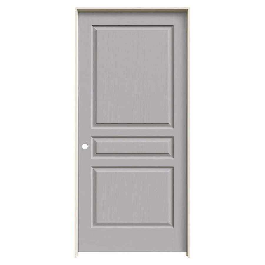 JELD-WEN Driftwood Prehung Hollow Core 3-Panel Square Interior Door (Common: 36-in x 80-in; Actual: 37.562-in x 81.688-in)