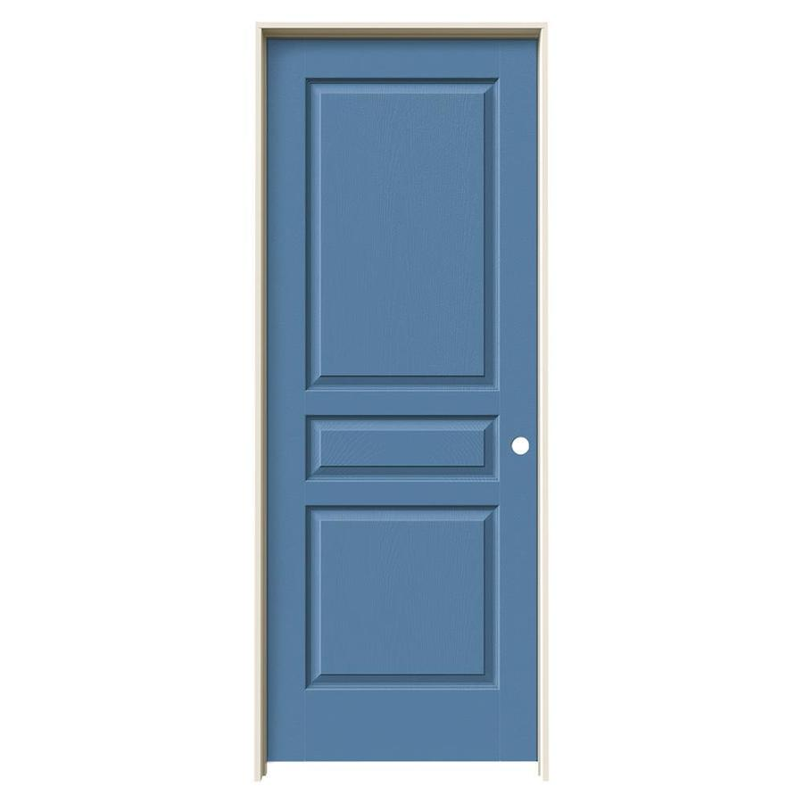 JELD-WEN Blue Heron Prehung Hollow Core 3-Panel Square Interior Door (Common: 30-in x 80-in; Actual: 31.562-in x 81.688-in)