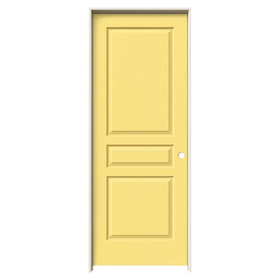 Shop Jeld Wen Avalon Marigold 3 Panel Square Single Prehung Interior Door Common 28 In X 80 In