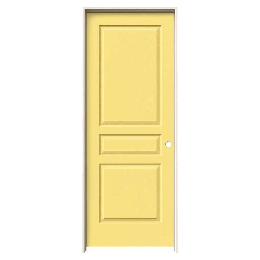 JELD-WEN Marigold Prehung Hollow Core 3-Panel Square Interior Door (Common: 30-in x 80-in; Actual: 31.562-in x 81.688-in)